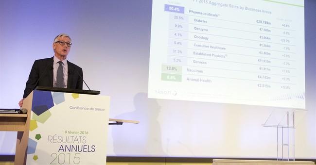 Sanofi reports flat 2015 earnings
