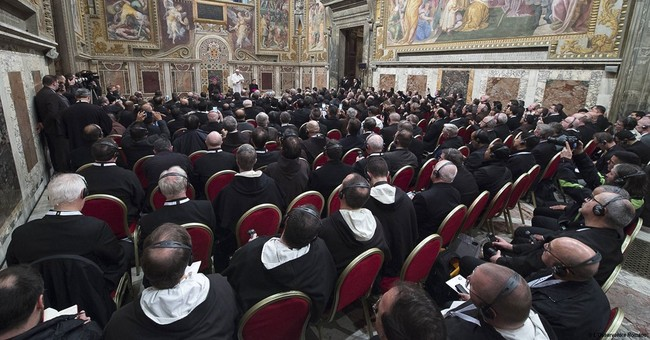 Pope briefs priests: Don't be smug, don't judge sinners