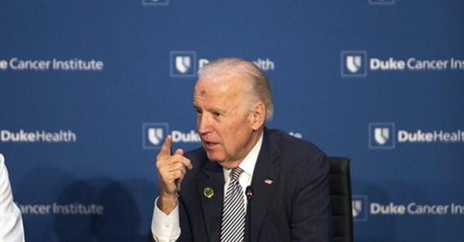 Biden seeks input for cancer 'moonshot' at Duke University