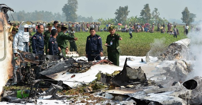 Myanmar military plane crash kills 4