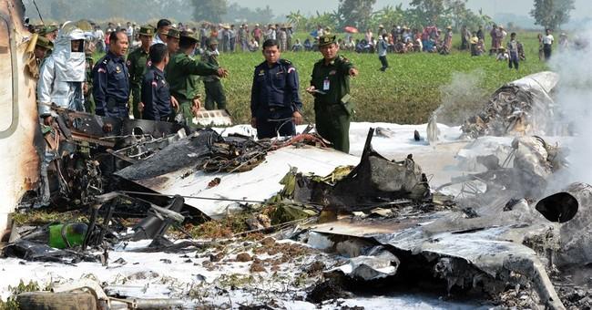 Myanmar military plane crash kills 4
