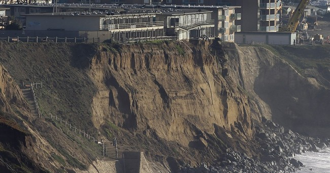 California residents live on the edge of crumbling cliffs