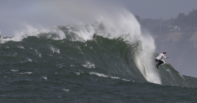The Latest: Northern Californian wins Titans of Mavericks