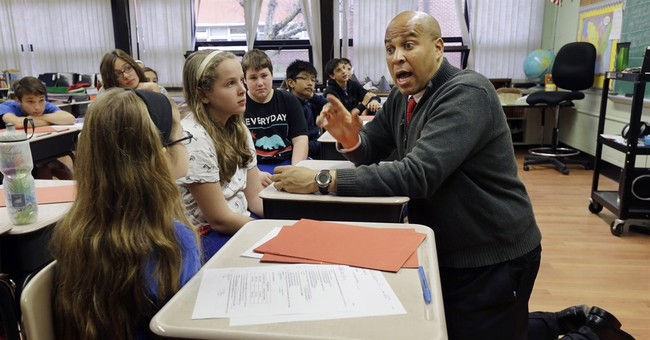 Sen. Cory Booker uses book to trace story of political rise