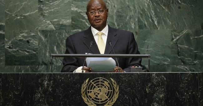 Uganda's president cites security as key topic in debate
