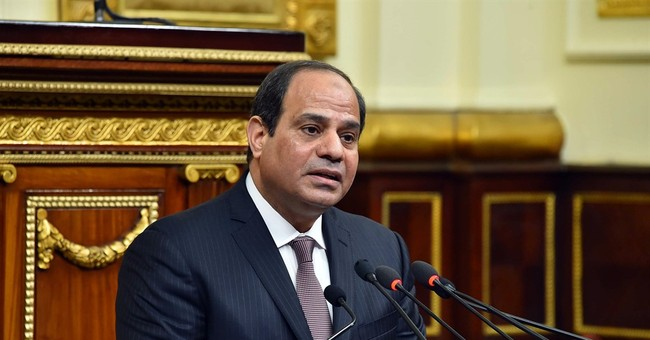 Amid multitude of woes, Egypt leader says democracy is back