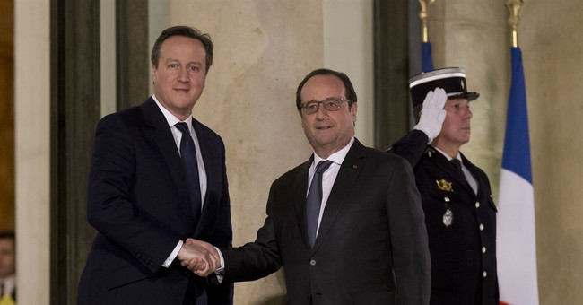 """Cameron arrives in Paris for """"Brexit"""" talks with Hollande"""