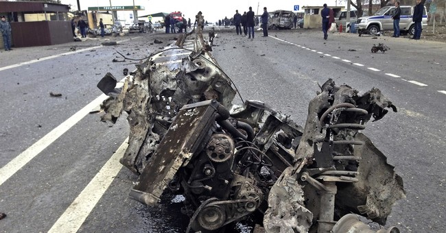 Car bomb kills 2 police, wounds 19 in Russia's Dagestan