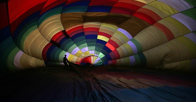 Image of Asia: Getting ready to go hot air ballooning