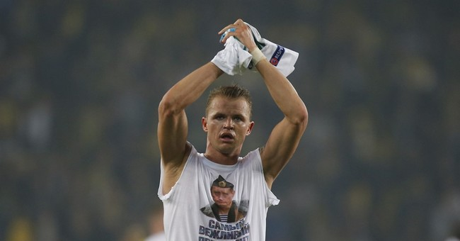 Russian club faces sanction after player shows Putin shirt