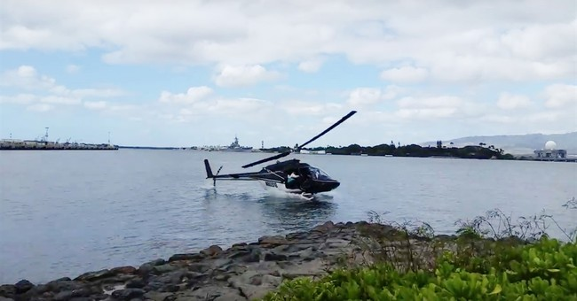 Eyewitness: Helicopter fell from sky into Pearl Harbor