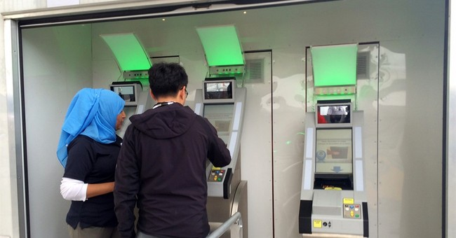 Border checkpoint scans eyes, faces of departing foreigners