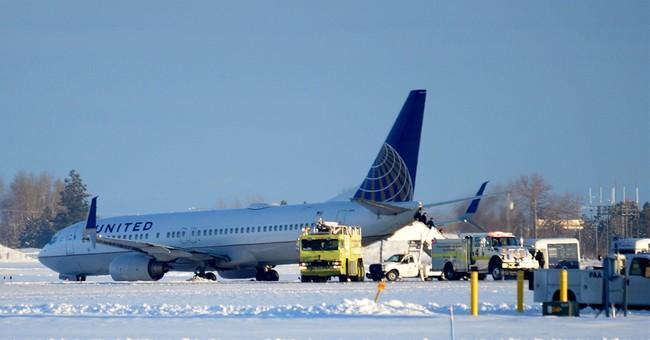 Plane slides off taxiway at Spokane airport; no injuries