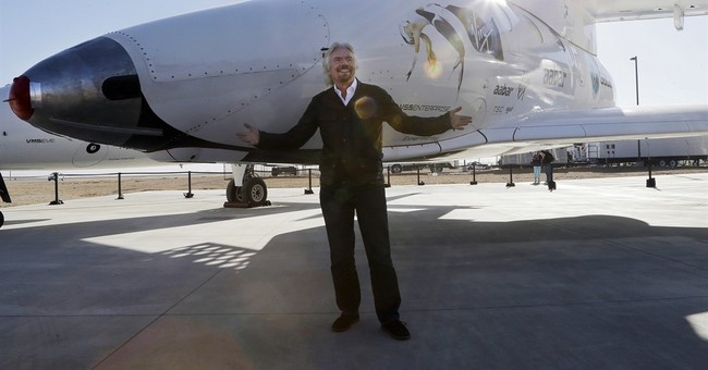 The Latest: Virgin Atlantic rolls out new tourism rocket