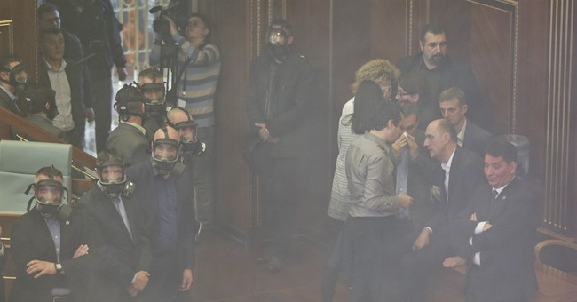 Kosovo opposition lawmakers block Parliament with tear gas