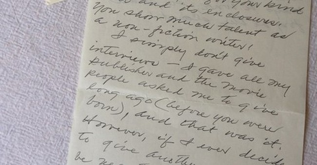 A handwritten note from Harper Lee is the politest rejection