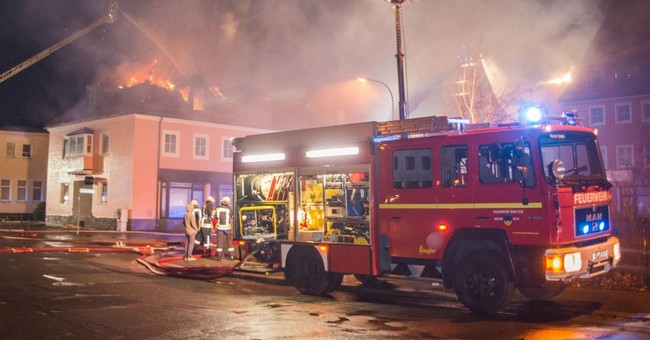 Fire damages future refugee home in eastern Germany
