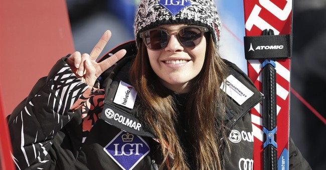 Weirather wins while Vonn is reminded of social media gaffe