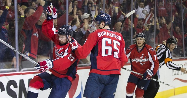 Richards scores first goal as Caps beat Coyotes 3-2