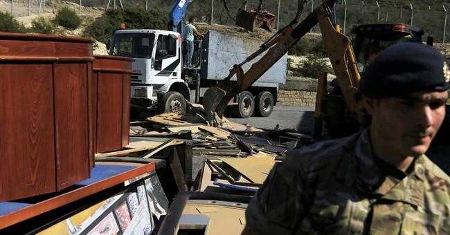 British bases police smash gambling equipment in Cyprus