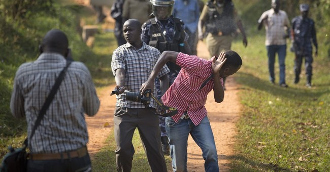 Uganda's opposition leader arrested trying to leave his home