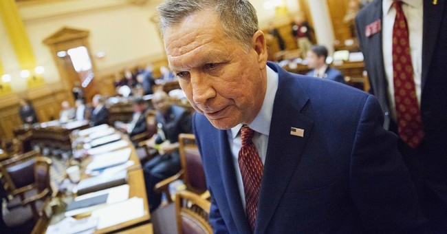 Unscripted Kasich risks the occasional foot in the mouth