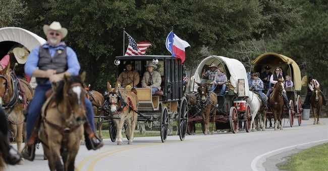 Trail riders mosey along for Houston Livestock Show & Rodeo