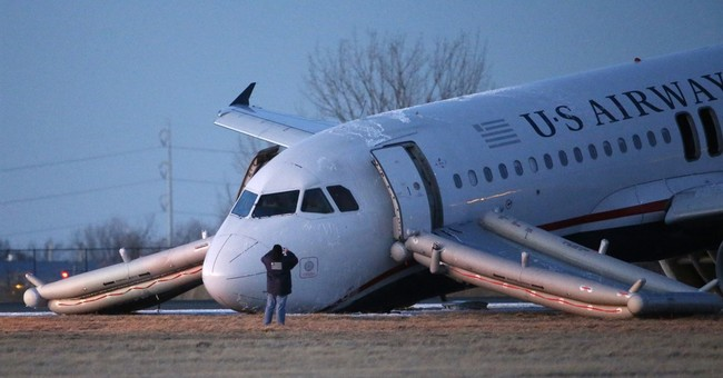 US Air aborted takeoff in Philadelphia blamed on pilot error