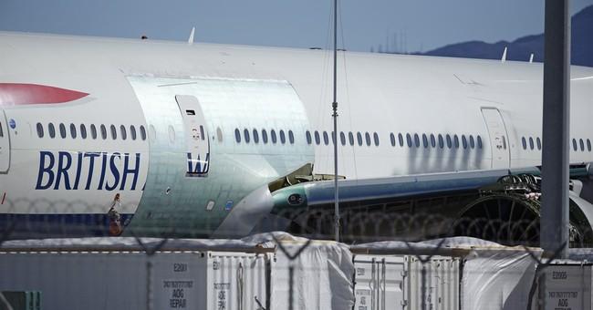 Fire-damaged British Airways jet leaves Vegas for paint job