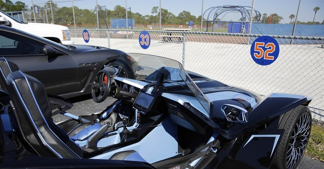 What a ride! Mets star Cespedes puts on car show at camp