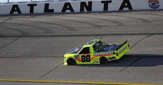 Nemechek wins Truck race in Atlanta after 2 late wrecks