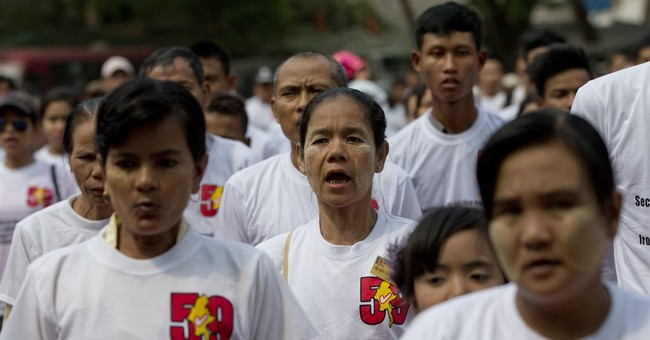 Myanmar nationalists rally against constitution change