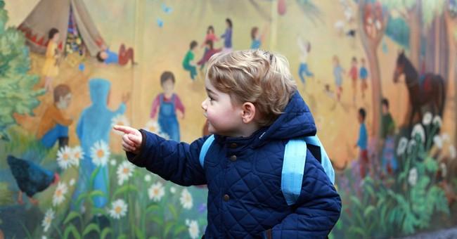 Britain's Prince George starts nursery school