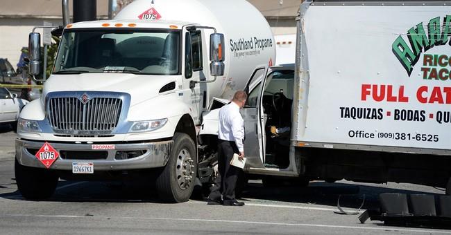 Stolen taco truck fleeing California police hits school bus