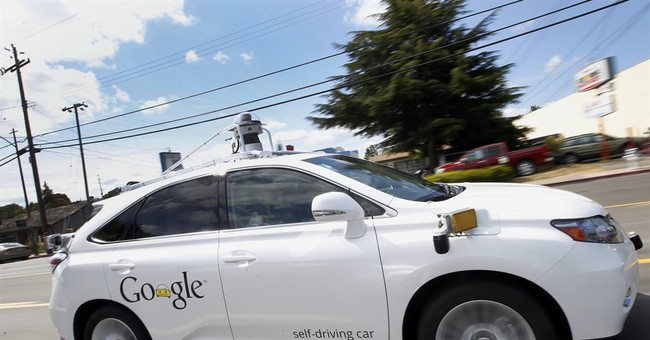 Google self-driving car strikes bus on California street
