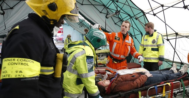 Emergency crews take part in large-scale disaster drill