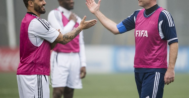 FIFA President Infantino kicks off his 1st day at the office