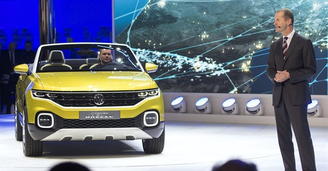 The Latest: Following prank, VW concedes it's a target
