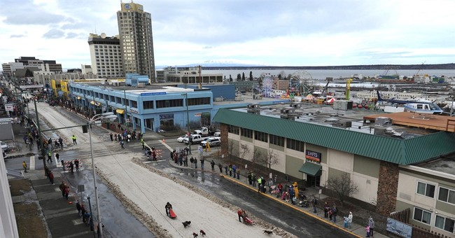 Little snow forces Iditarod to ship it in for opening event