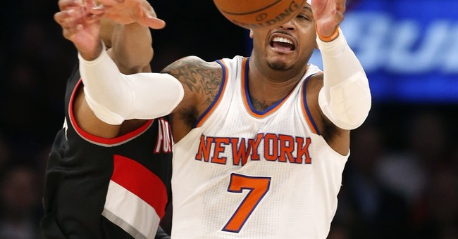 Carmelo Anthony apologizes for response to heckling fan