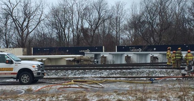 The Latest: Freight train crash halts Chicago-NYC Amtrak