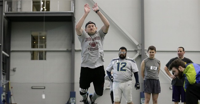 Chance to try NFL combine drills fun but humbling experience