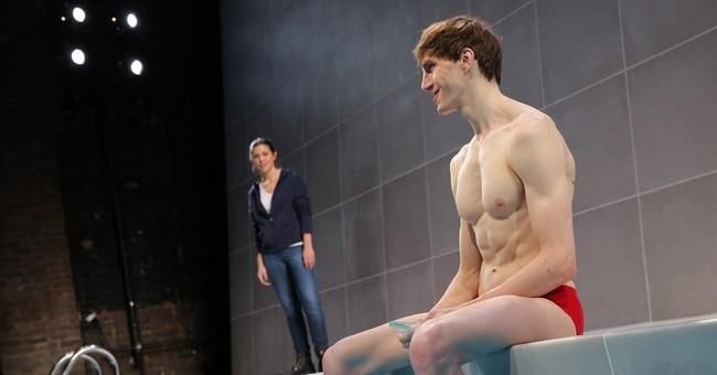 In a triumph of set design, a theater builds a swimming pool