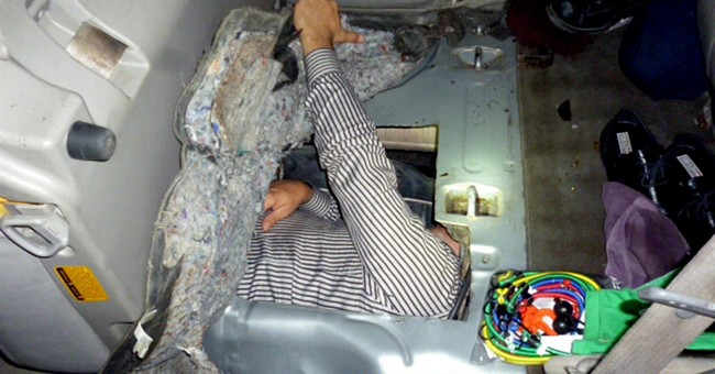 Brazilian man hides in gas tank to try to sneak into US