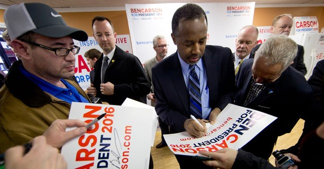 Carson spent heavily on consultants, lightly on campaigning
