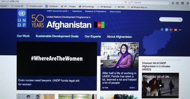 UNDP to blackout photos on Afghan website for Women's Day