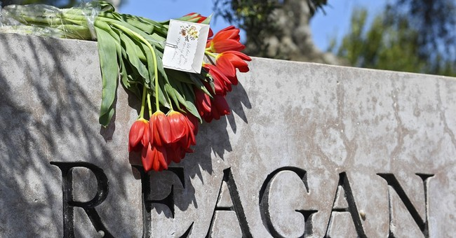 Flowers left at Reagan Library following first lady's death