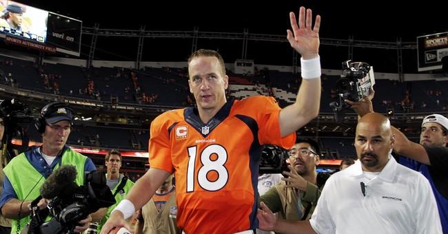 Peyton Manning jokes, chokes up during retirement remarks