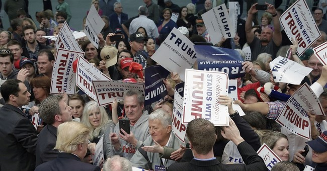Trump tries to stay on message in NC amid wave of protests