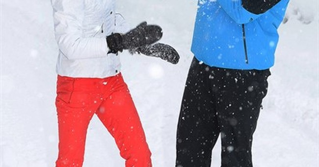 William, Kate and kids enjoy the snow in ski holiday photos